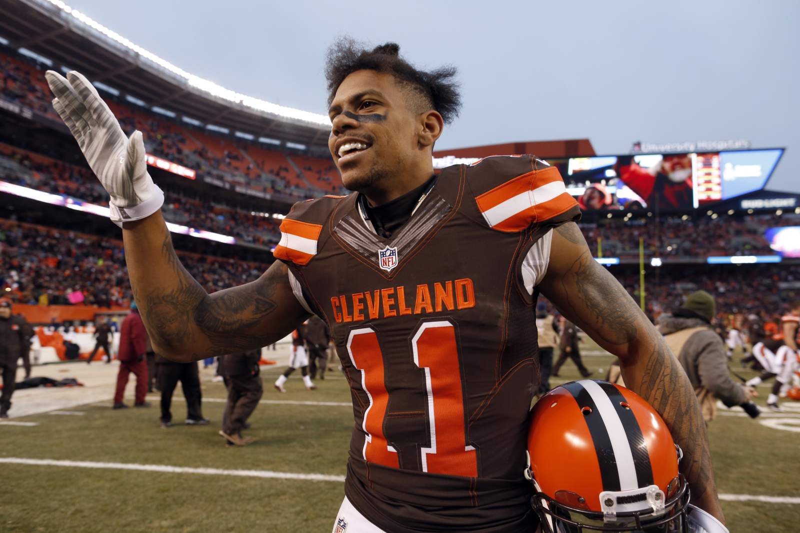Former Cleveland Browns receiver Terrelle Pryor in critical condition