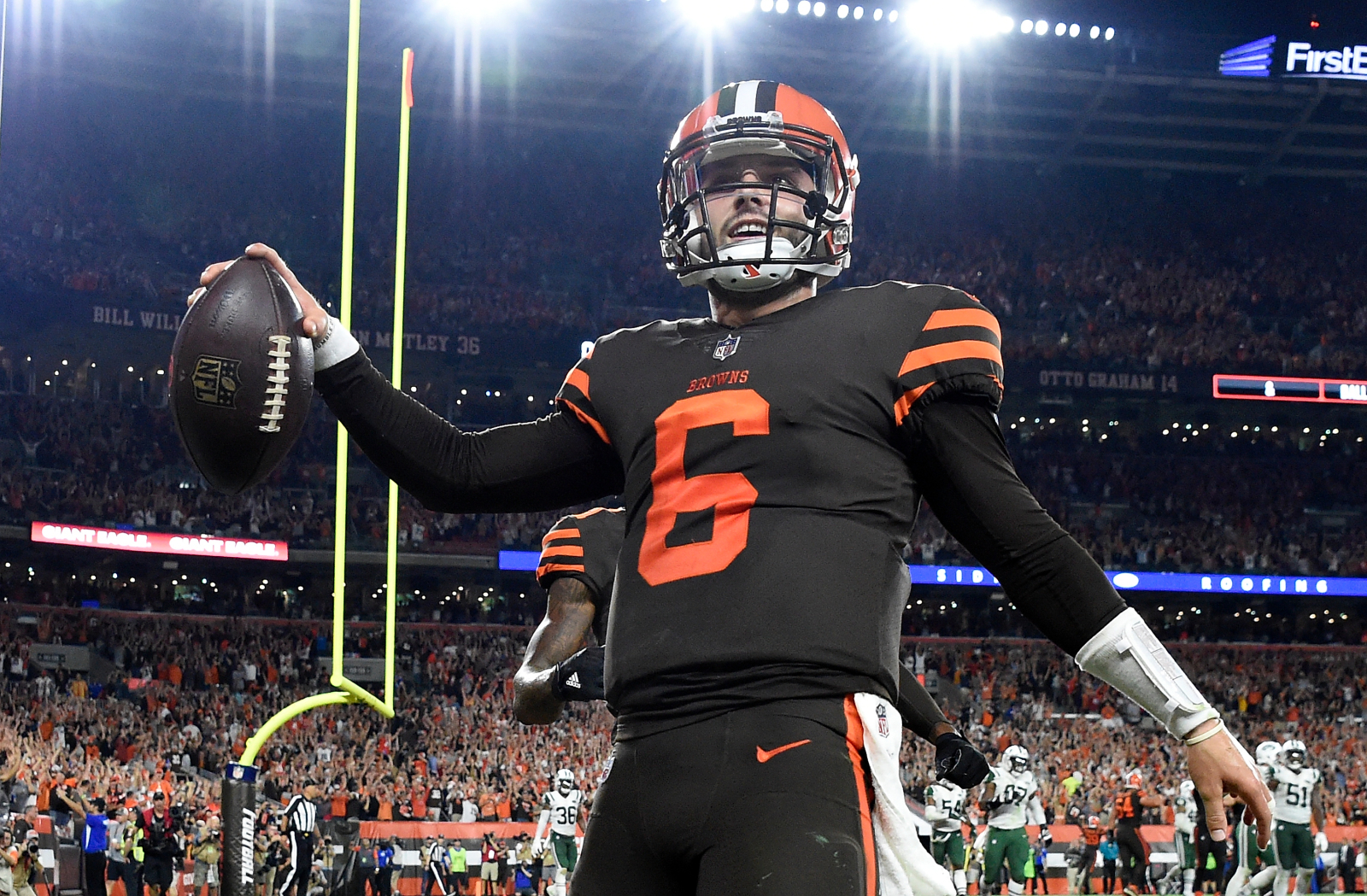 what color is the cleveland browns home jersey